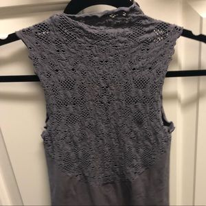 Free People Tops - Free People Seamless Mock Neck Lace Tank Top